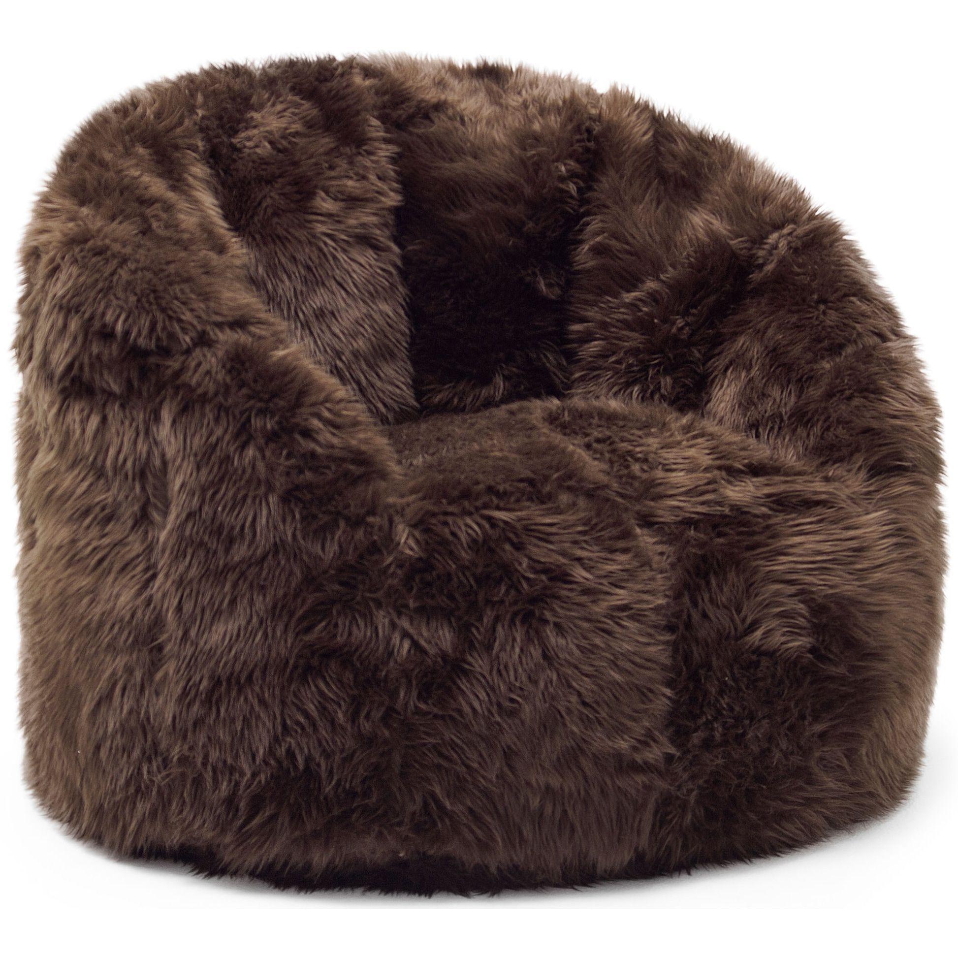 Big Joe Lux Milano Shag Fur Chair (Spot Treat