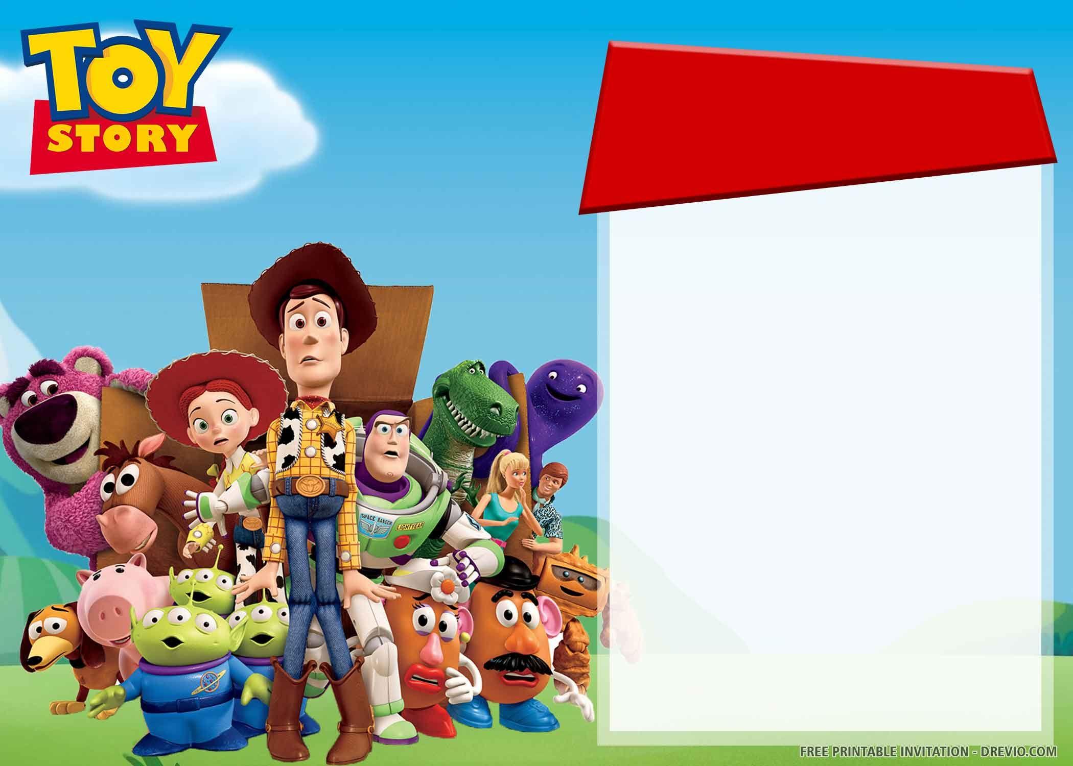 toy story themed birthday invitations