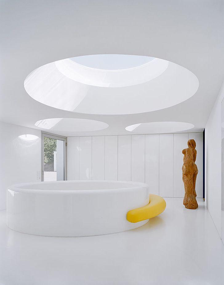 Round Pool Under Round Skylights Home Design Modern Design