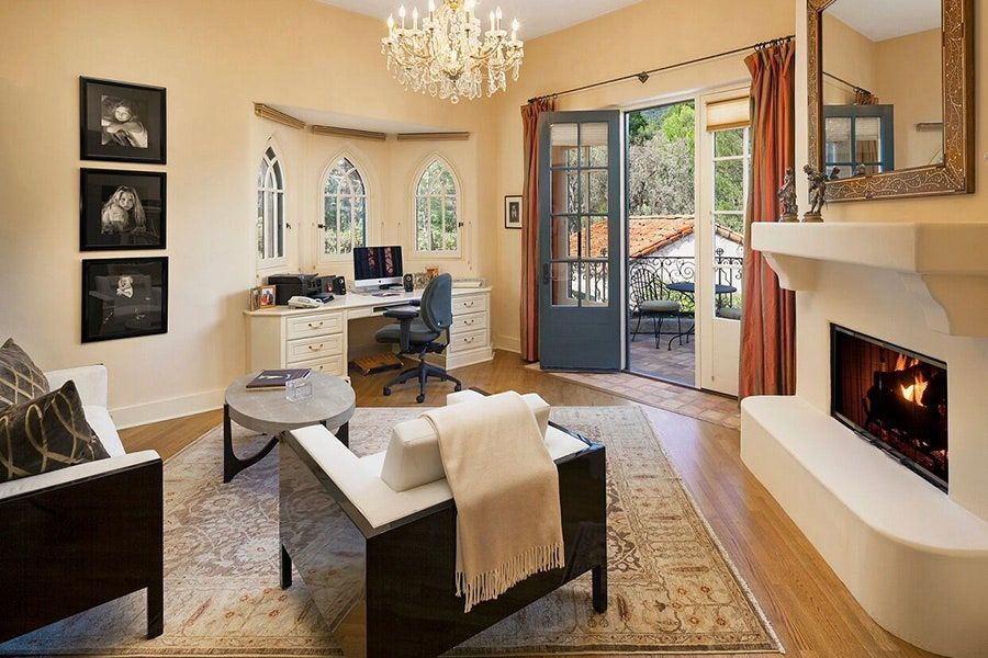 Inside Jeff Bridges S House In Montecito California Architectural Digest In 2020 French Doors Interior Home Tuscan House