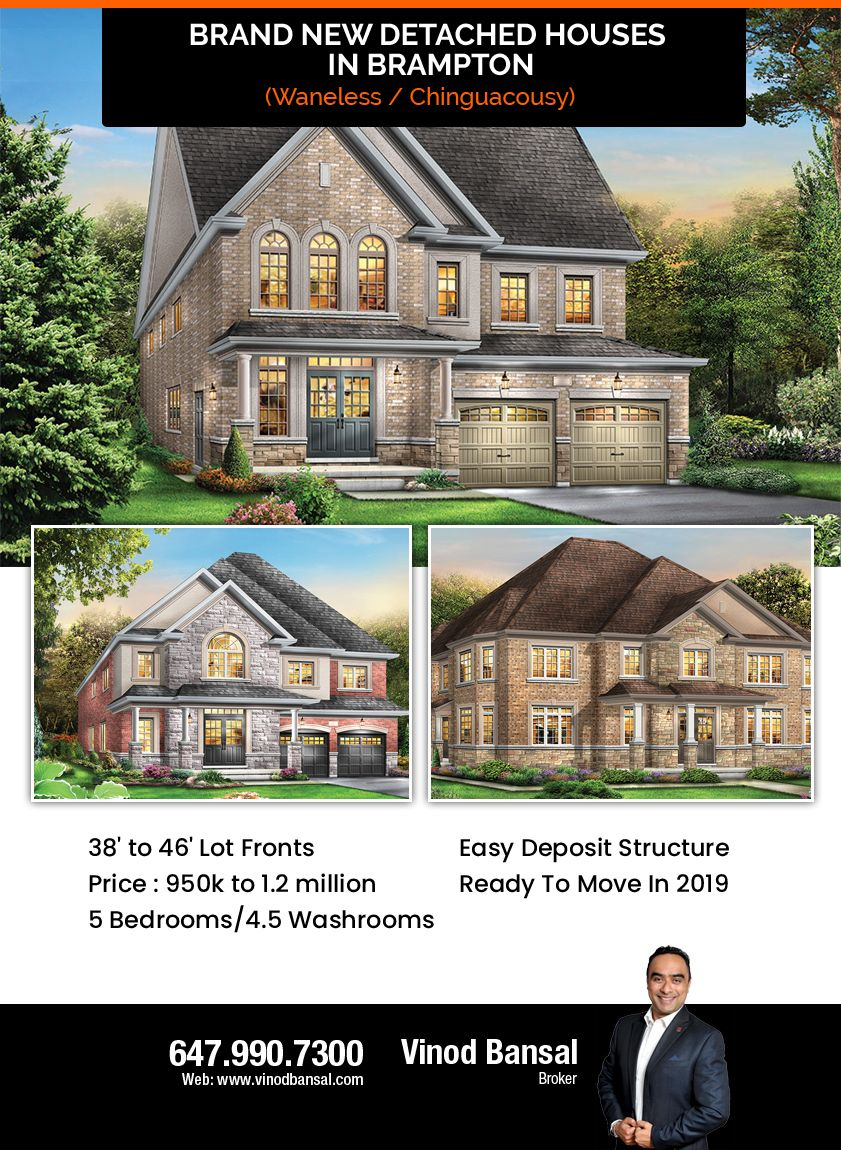 Find the best Brand new detached houses in Brampton (
