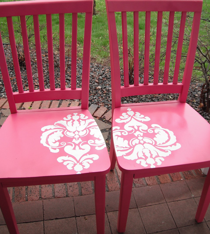 Repaint And Stenciled Chairs...might Be Good For Any Of The Older Wooden