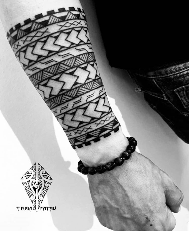 Follow This Artist Tribal Tatau Artist Tribaltataucollective Forearm Band Tattoos Tribal Arm Tattoos Band Tattoo Designs
