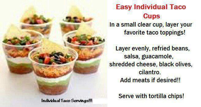 Individual taco cups