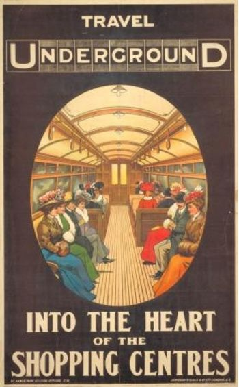 vintage London Underground poster reproduction. The Way for all