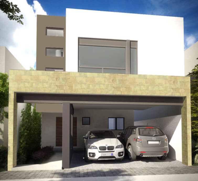 Cochera Fachadas de casas modernas, Fachadas de casas