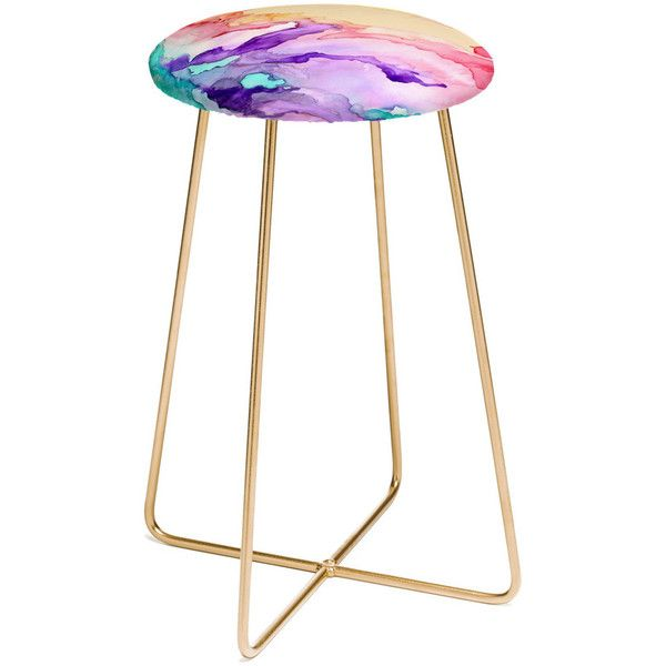 Deny Designs Rosie Brown Color My World Stool Black By 199