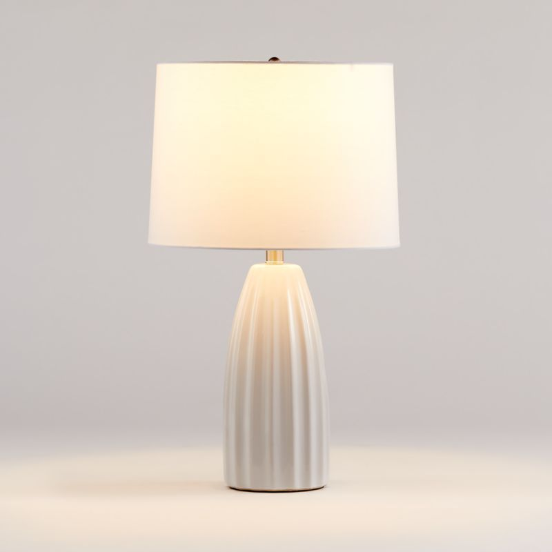 Ella White Table Lamp Set Of 2 Reviews Crate And Barrel In 2021 White Table Lamp Ceramic Table Lamps Table Lamp
