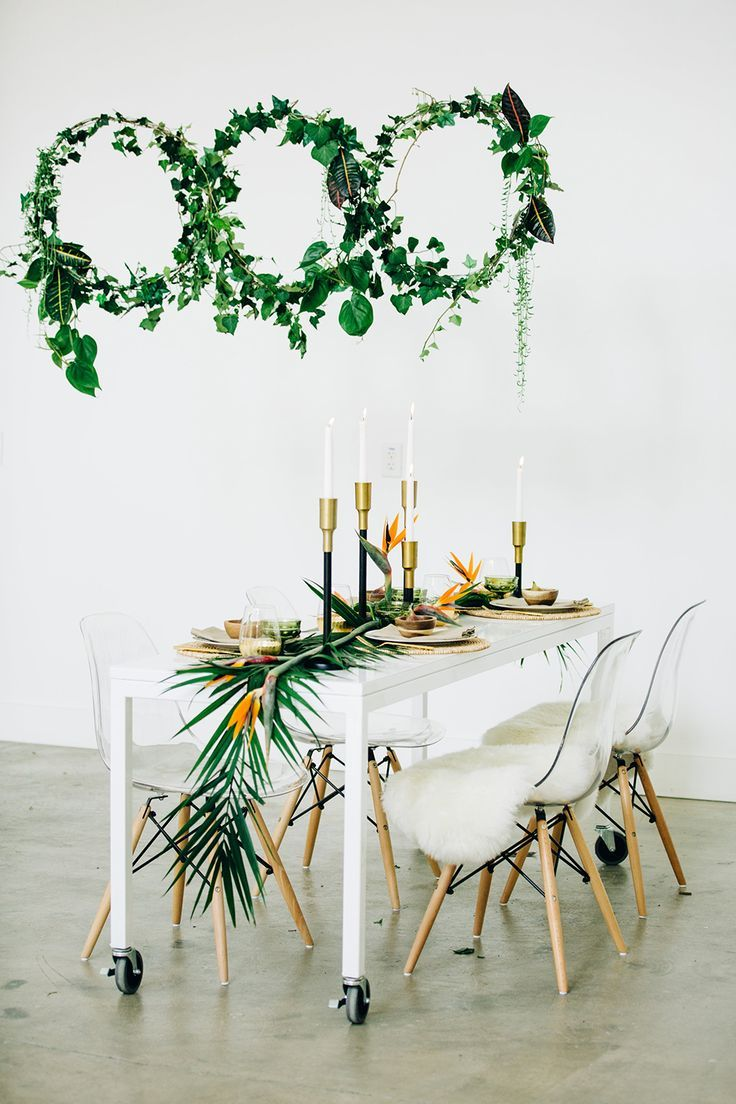 Modern Tropical Wedding Inspiration With A Living Wall Pinterest