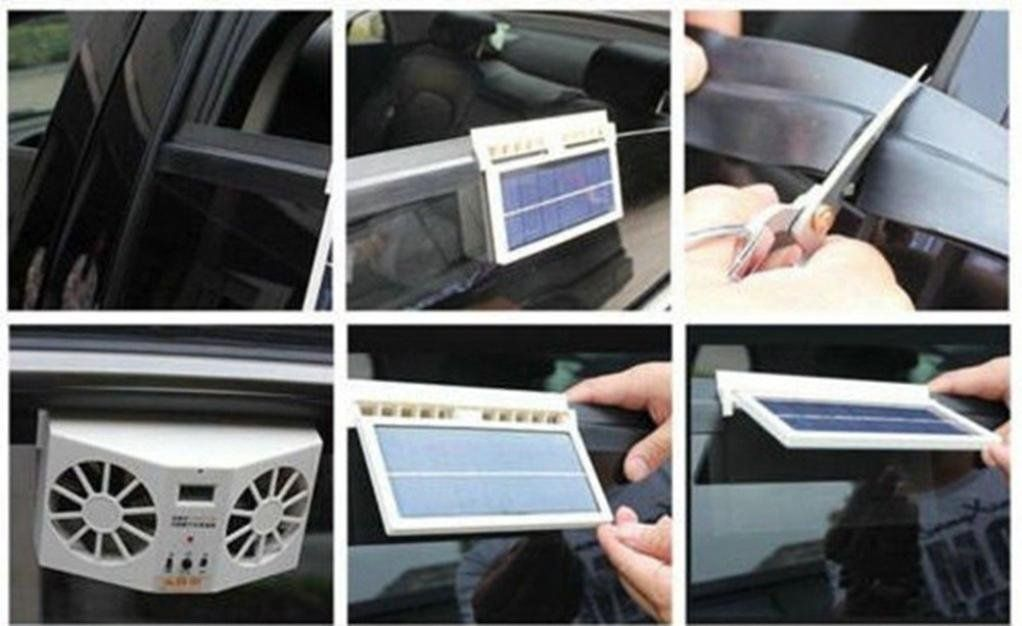 Livoty Solar Powered Car Window Air Vent Ventilator Mini Air Conditioner Cool Fan New Want Additional Info Click Solar Power Solar Powered Cars Car Cooler
