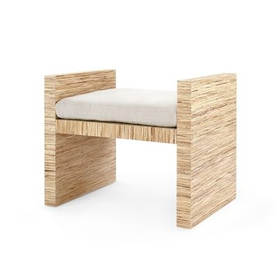 The H Bench  Natural is part of Living Room Chairs Benches - The HBench, by Bungalow 5 is a hard working design that references the monumentality of classical antiques together with the geometry and hedonism of 70s furniture design  A simple, consistent line width creates the H shape  These broaden into chunky planes , which anchor a stable base and rise to create arm rests