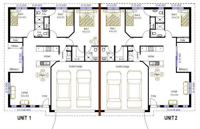 272 Floor Jpg 650 419 Floor Plans Duplex Plans Duplex Floor Plans