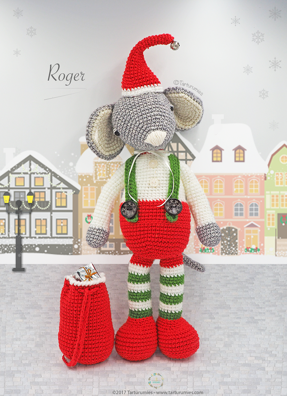 Roger The Christmas Mouse By Tarturumies - Free Crochet Pattern ...