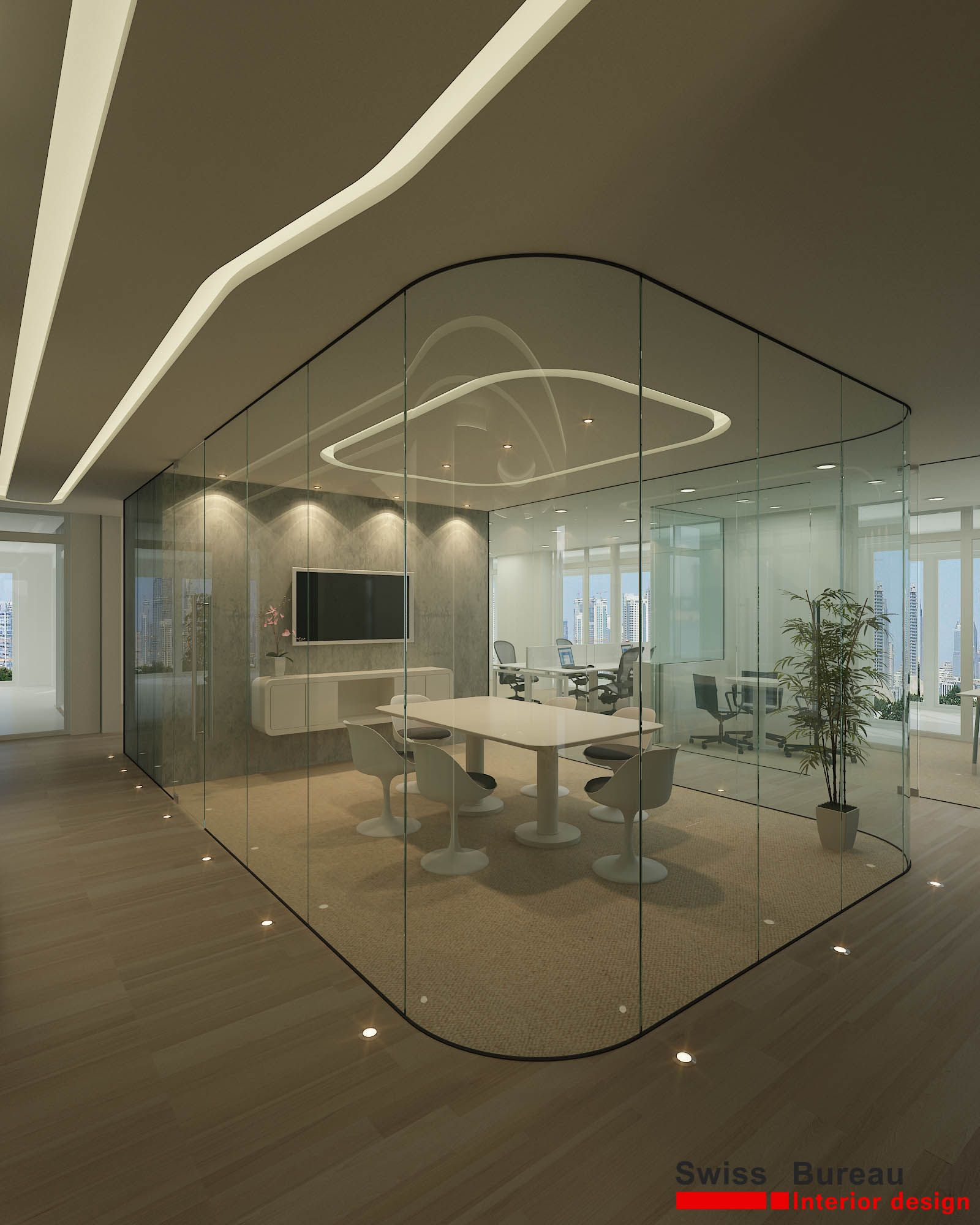Corporate office meeting room ark interior provide all for Office wall interior