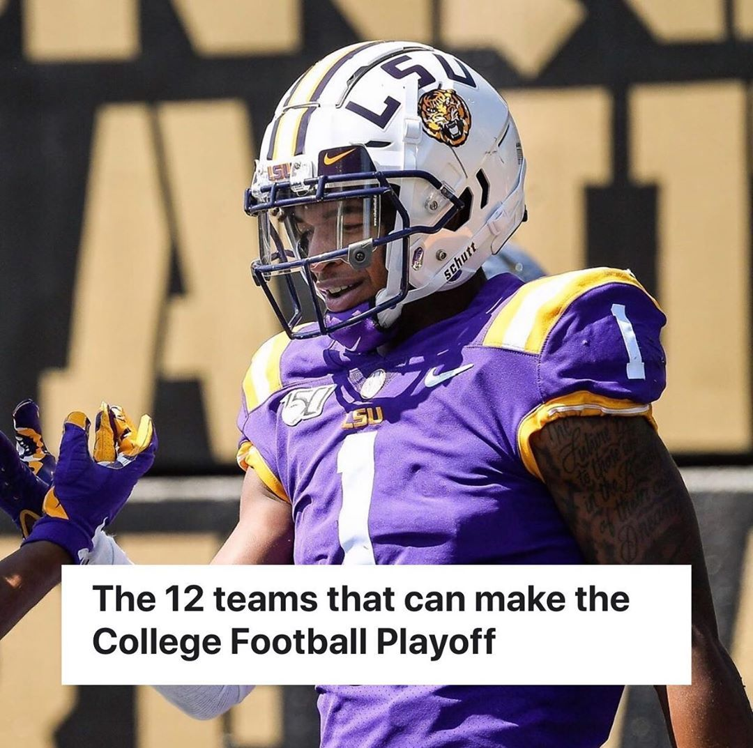 """College Football on Instagram: """"The Twelve teams that can ..."""