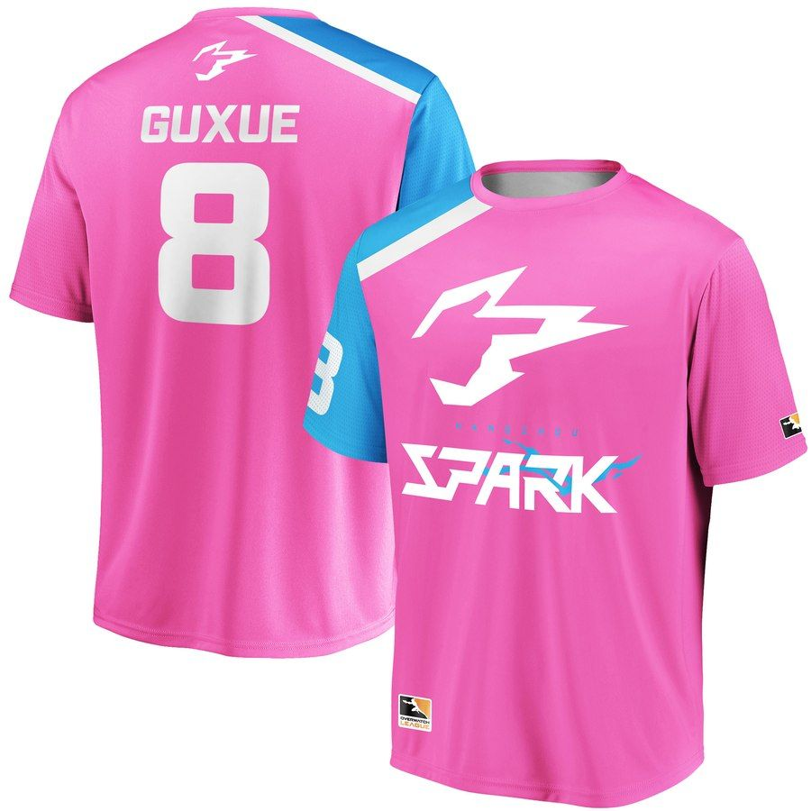 size 40 27fe3 afd17 Guxue Pink Hangzhou Spark Overwatch League Replica Home ...