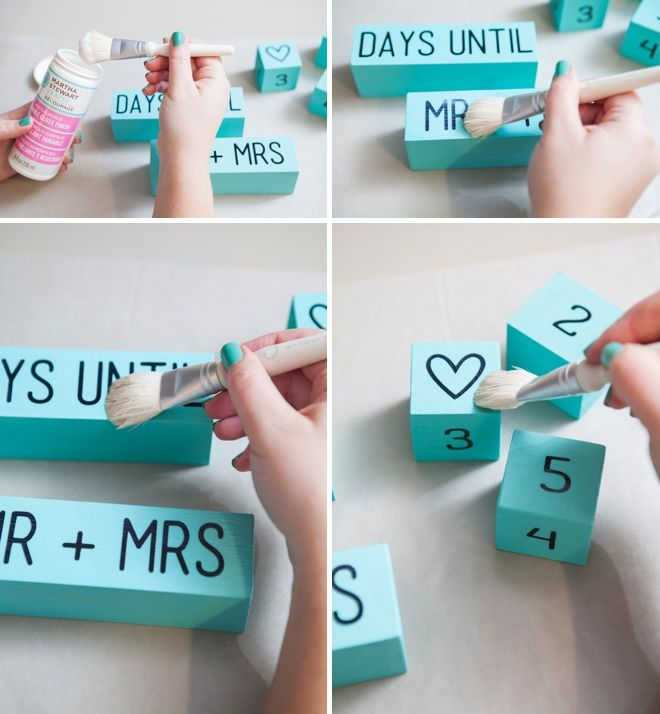 Learn How To Make Your Own Wedding Countdown Blocks