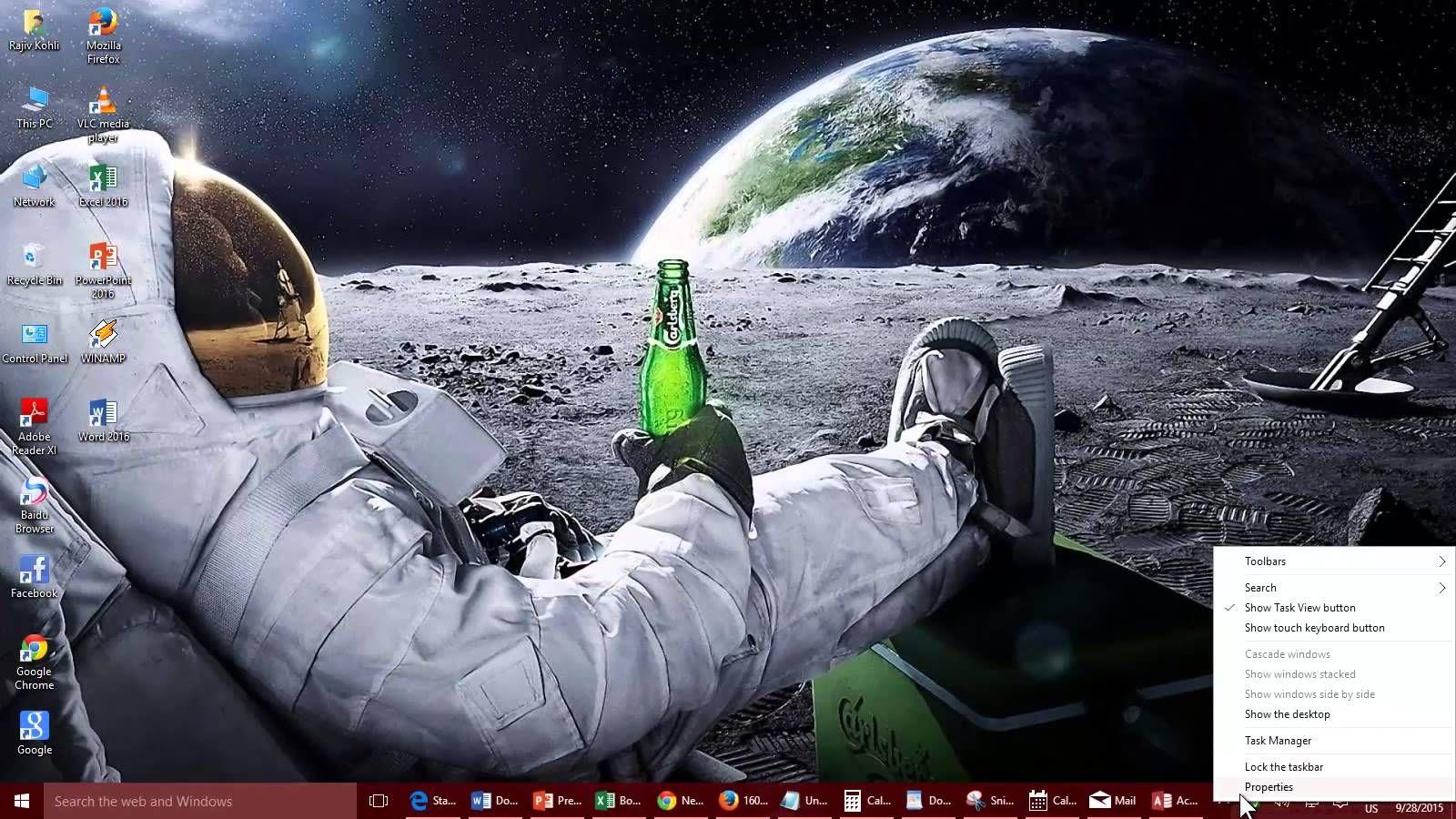 Change How Button Appears On Taskbar Windows 10 8 1 8 Tutorial Astronaut Wallpaper Wallpaper Notebook Hd Cool Wallpapers