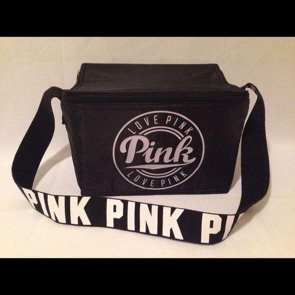 e19e765945c42 Pink Victoria secret lunch box Jet black and brand new still in its ...
