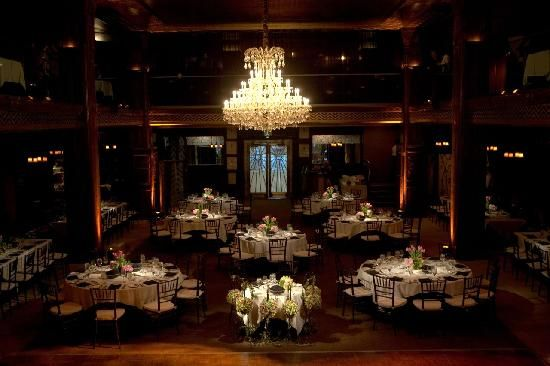 Set Up For The Reception At The Cicada Restaurant In Los Angeles