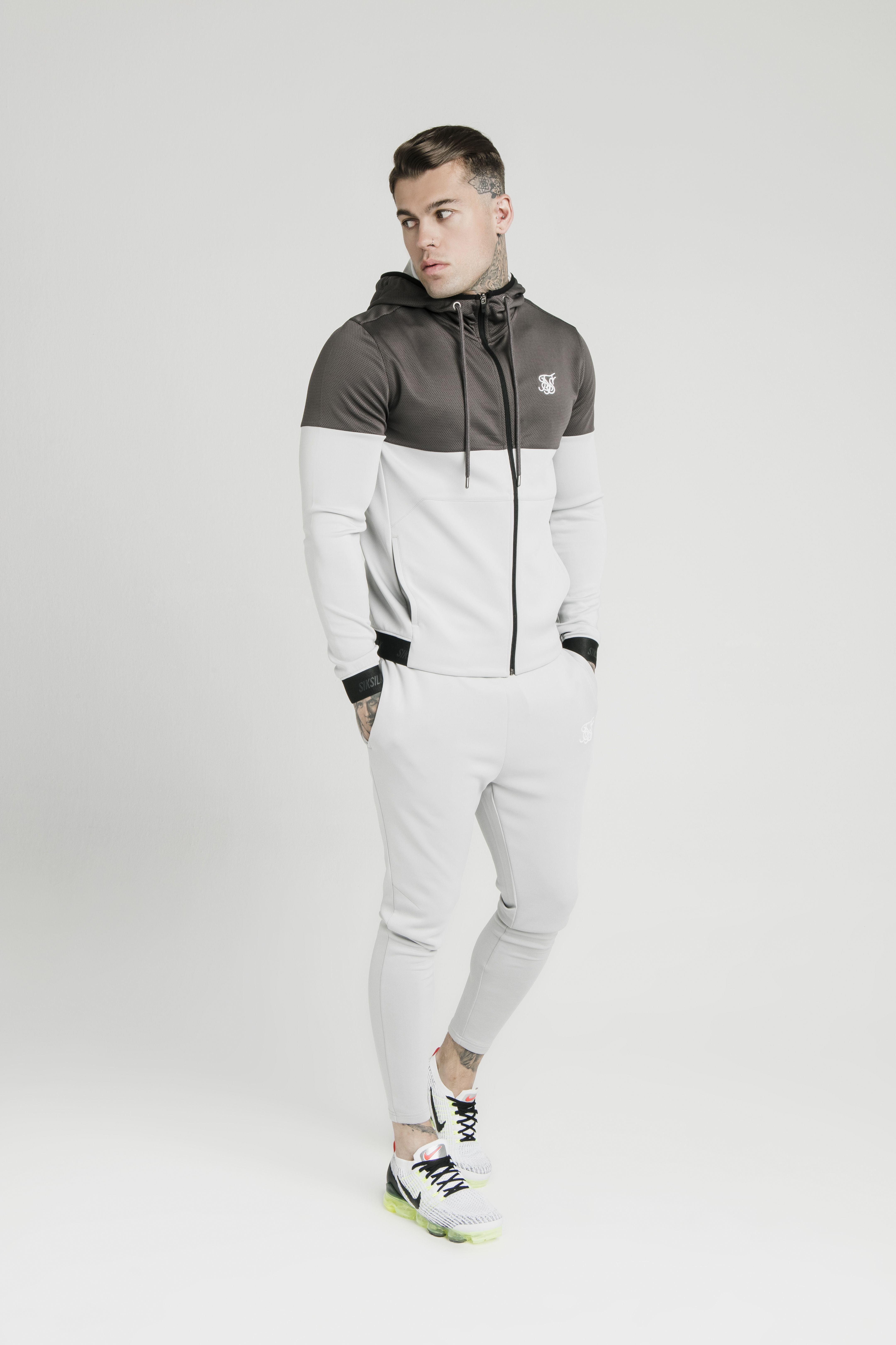 Colour Block Agility Anthracite & Ice Grey Mens winter
