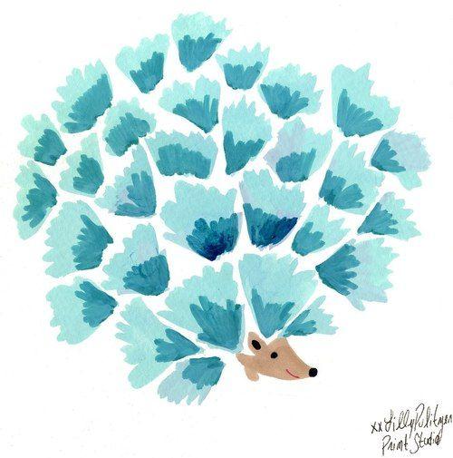 Lilly Pulitzer hedgehog!   DECO   Pinterest   Acuarela, El artista y ...