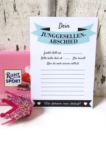 freebie für den #jga - #einladung für die #braut! | jga, Einladungen
