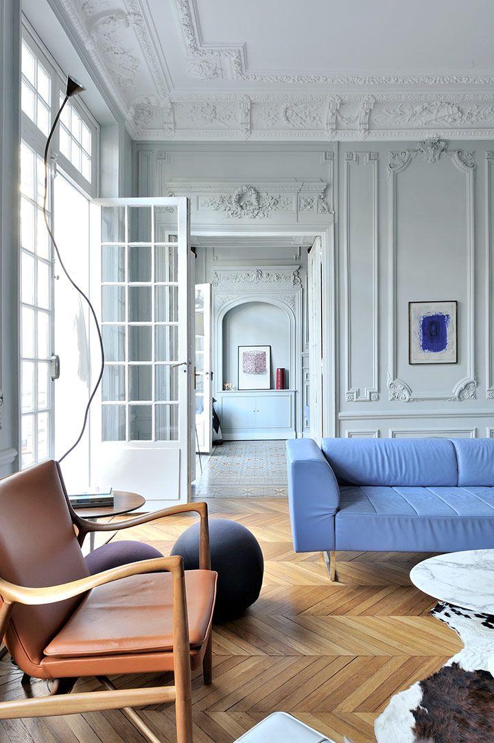 argile peintures argile peinture pour un appartement parisien interior design architecture d. Black Bedroom Furniture Sets. Home Design Ideas