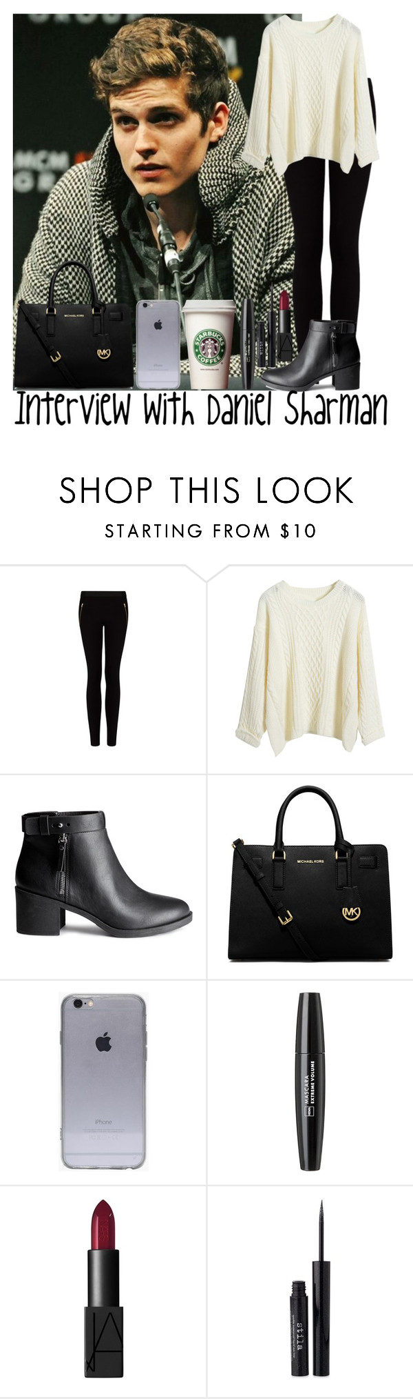 """Interview with Daniel Sharman"" by diirectiioner69 ❤ liked on Polyvore featuring MANGO, H&M, Michael Kors and Stila"