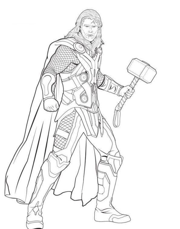 Ausmalbilder Avengers Thor Superhelden Malvorlagen Ausmalbilder Malbuch Vorlagen