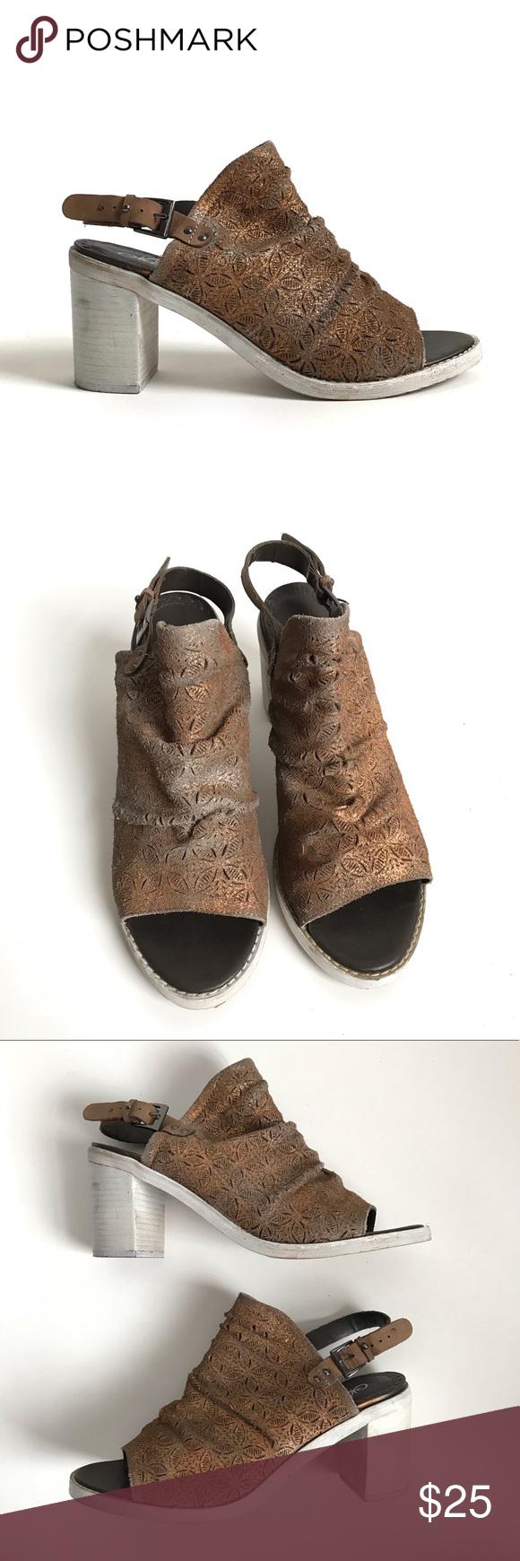 Naughty Monkey Nyxx Leather Heels size 10 Leather heels