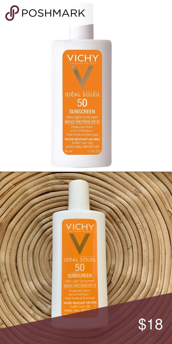 Vichy Ideal Captial Soleil Face Sunscreen Spf 50 Vichy Ideal Captial Soleil Ultra Light Face Sunscreen Spf 50 Wit Sunscreen Spf 50 Spf Sunscreen Face Sunscreen