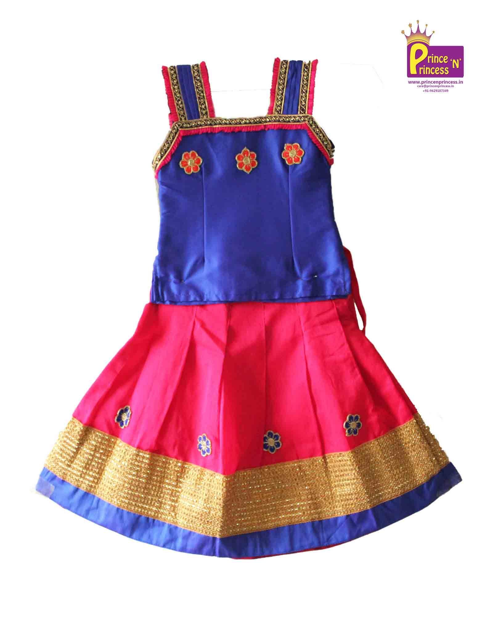 24f7027181 Baby Girl Pattu Langa Pavadai from www.princenprincess.in | Pattu ...
