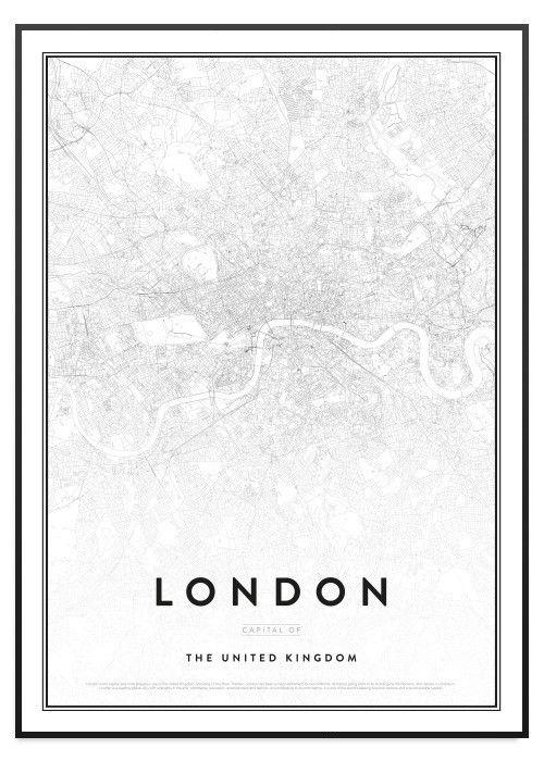 tavla london karta Poster Store London karta tavla   Tavlor   Pinterest tavla london karta