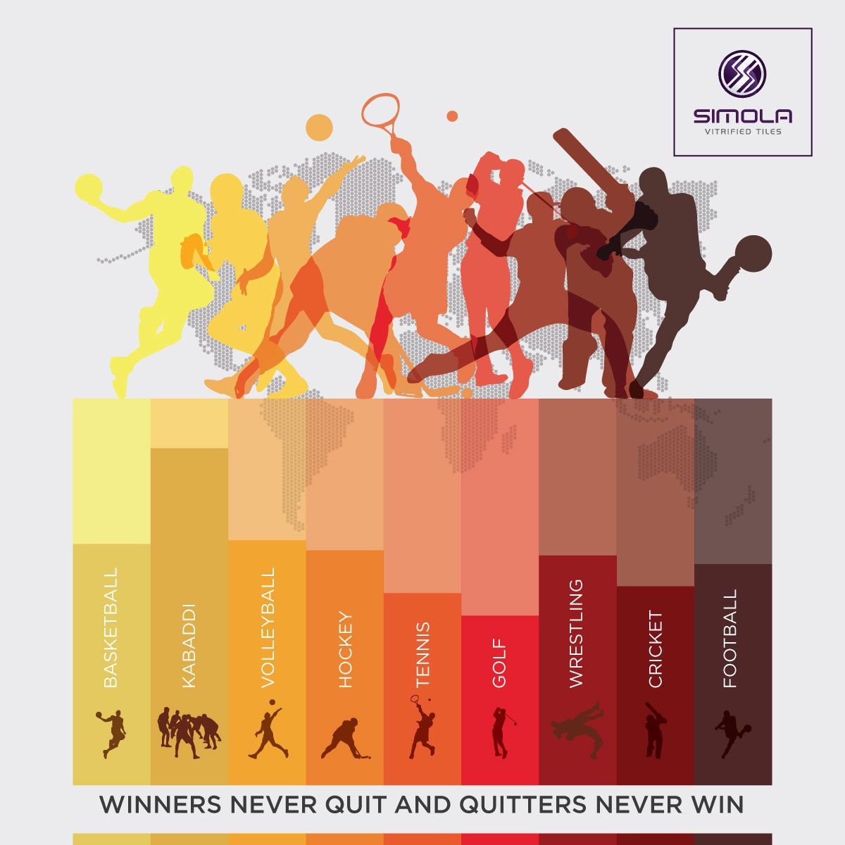 Winners Never Quit And Quitters Never Win Happy National Sports Days Simolavitrified Ceramic Floort National Sports Day Sports Day Football And Basketball