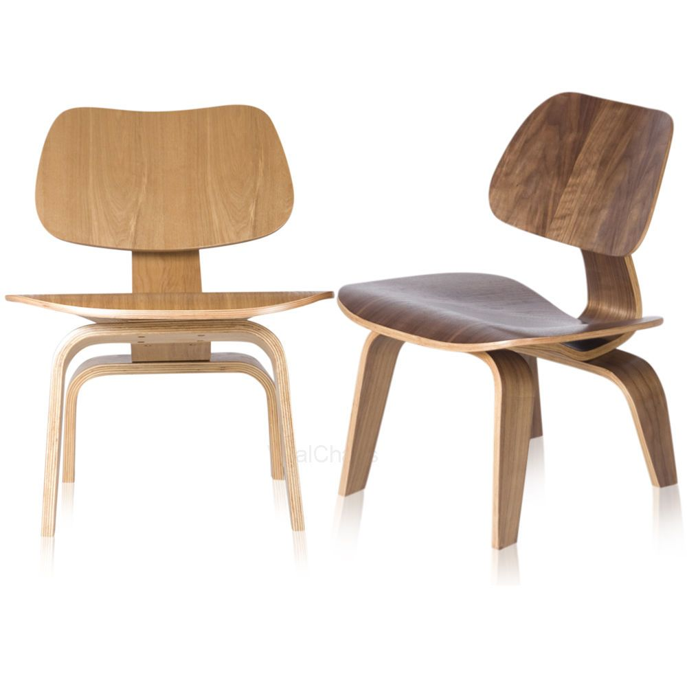 Charles eames molded plywood lounge chair wood lcw for Charles eames chair replica
