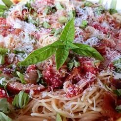 Pasta, Summer Fresh Pasta With Tomatoes And Prosciutto, This Quick, Easy, And Flavorful Fresh Pasta Dish Showcases Summer'S Garden Bounty Using Those Wonderful Home-Grown Tomatoes And Fresh Basil.