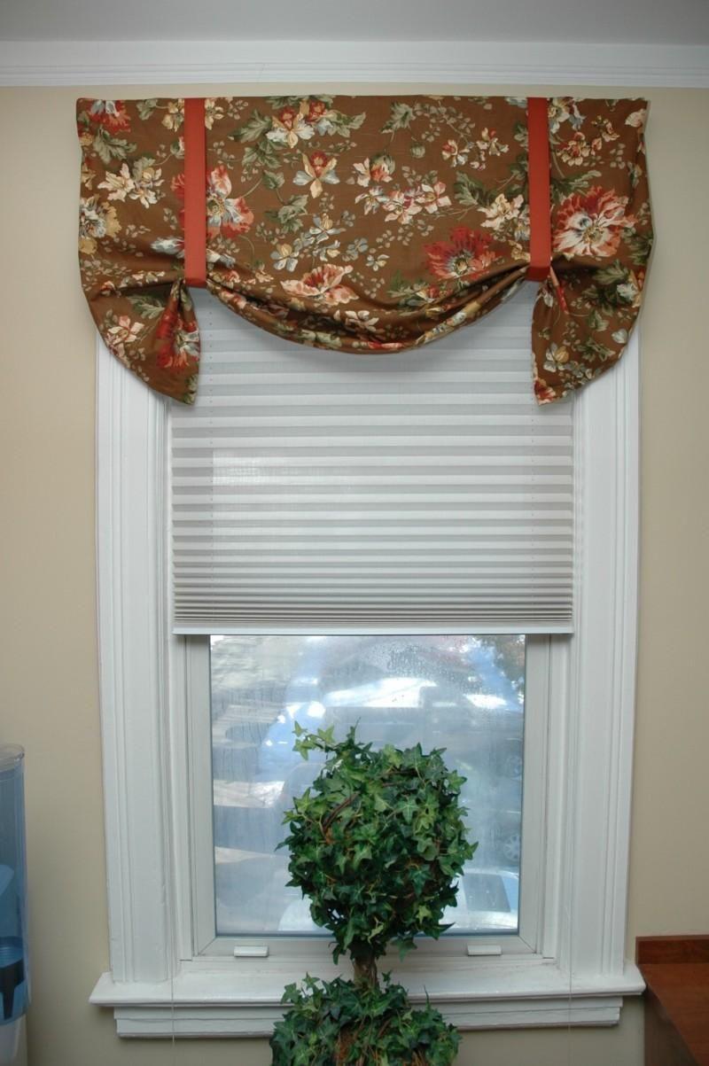 Elegant Kitchen Curtains Valances Cabinets Las Vegas Diy Sewing No Sew Window Valance Home Decor