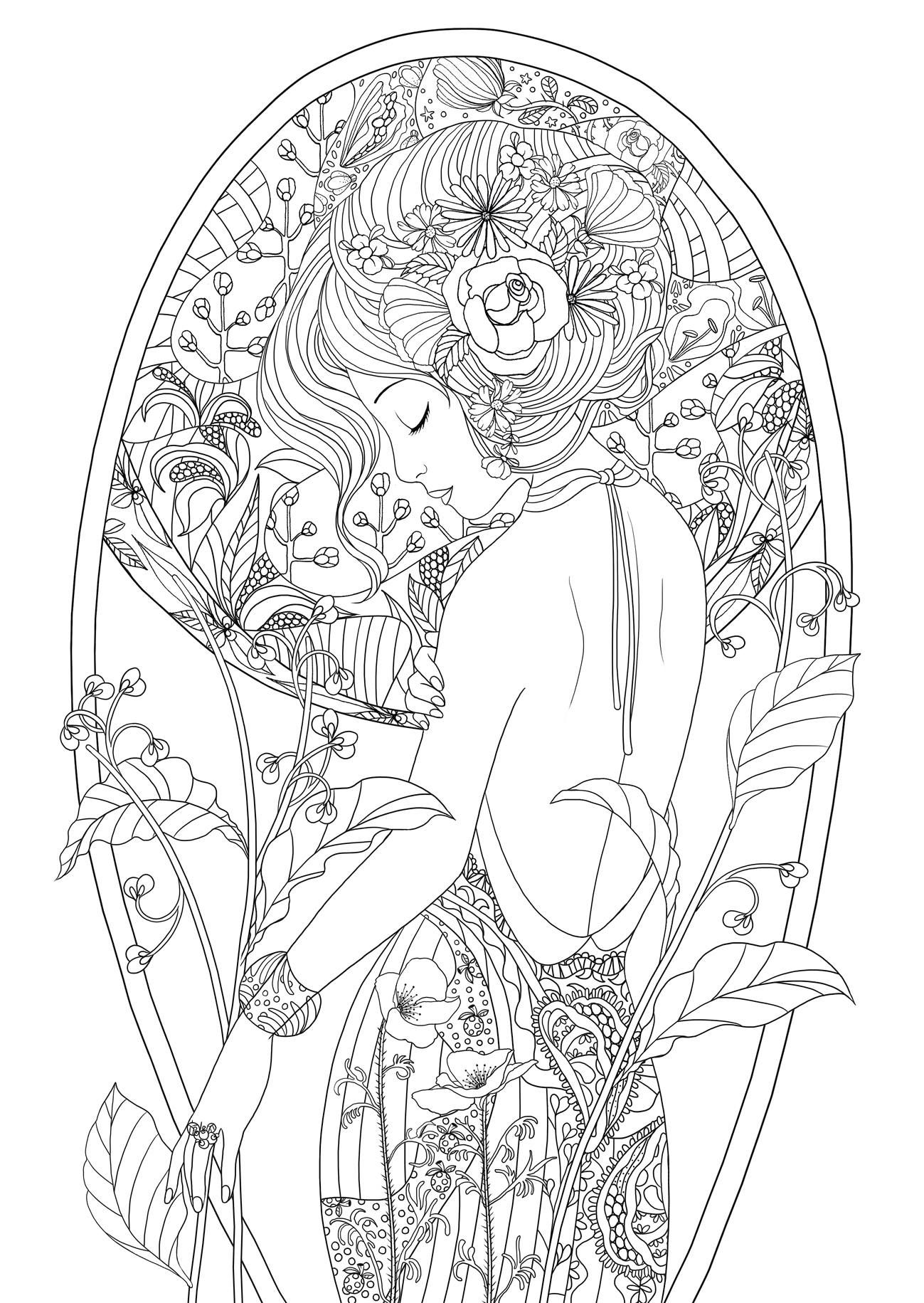 Beauty | Beautiful Women Coloring Pages for Adults | Pinterest ...