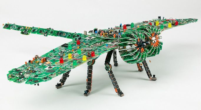 Giant Circuit Board Dragonfly Be Glad This Thing Doesnt Fly