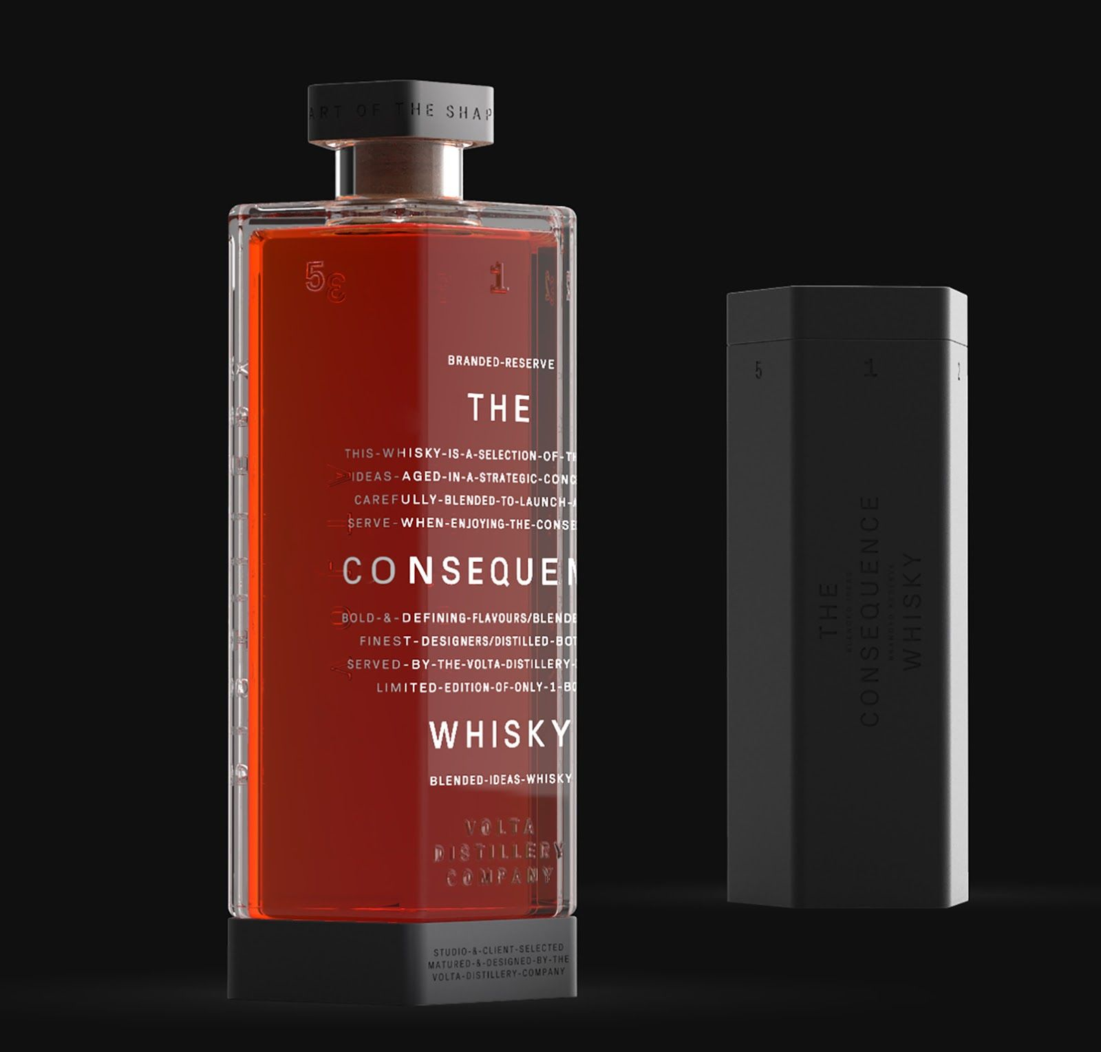 Volta The Shaping Collection Packaging Design Whisky Packaging Creative Packaging Design