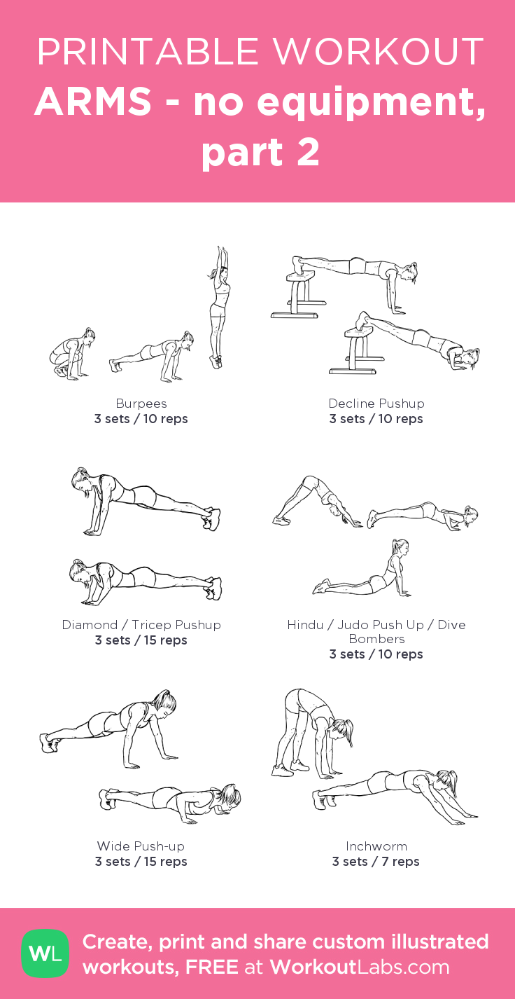 Arm Workouts Women: Arm Workouts For Women No Weights