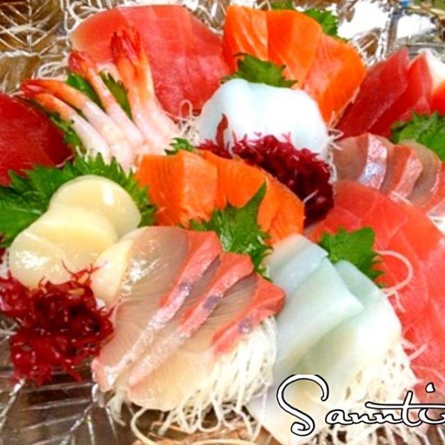 レシピとお料理がひらめくSnapDish - 65件のもぐもぐ - ✨Sashimi for dinner ...晩ごはんは刺身です^_^✨ by sanntina/サーンティナ