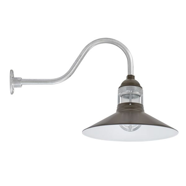 Industrial Wall Mounted Lights: Straight Arm, Navy Wallaby Industrial Gooseneck, Wall Mounted Lighting |  Barn Light Electric,Lighting