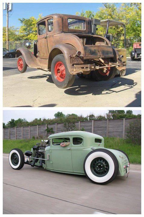 Before And After Vintage Hot Rod Hot Rods Hot Rods Cars