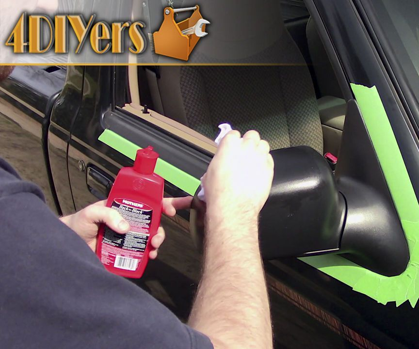 How to restore faded rubber or plastic trim with images