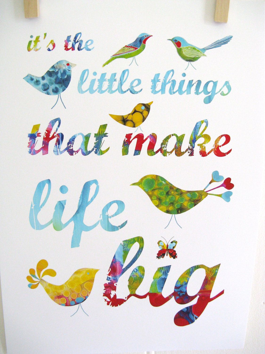 It's the little things that make life big - Kathy Panton, Etsy