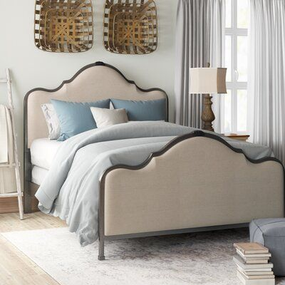 Alcott Hill Amoll Upholstered Standard Bed Wayfair In 2020 Bed Sizes Upholstered Panel Bed Headboard And Footboard
