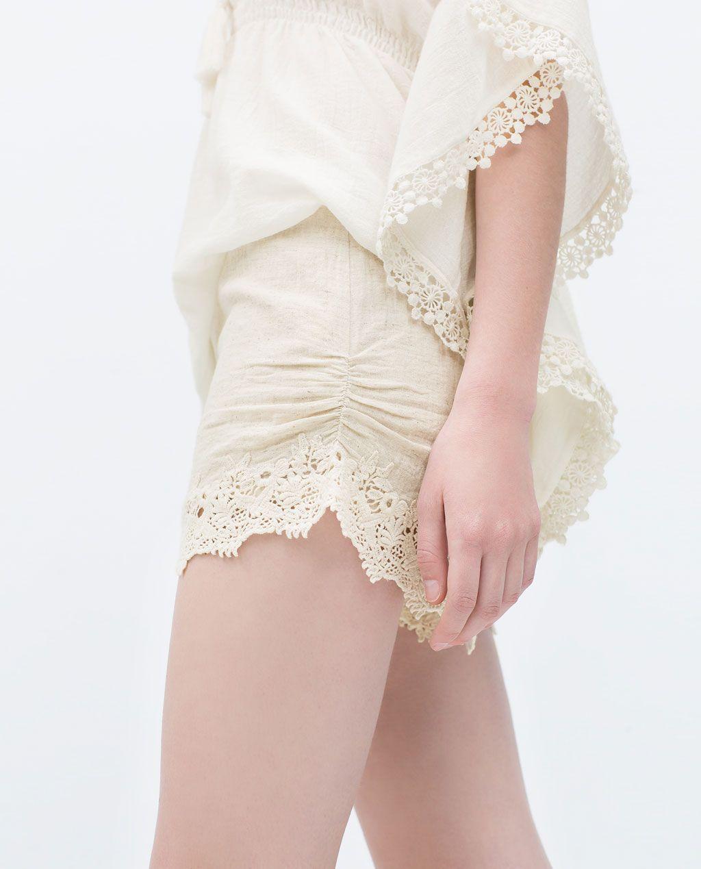 Short Combinado Crochet Trf última Semana Frau Zara