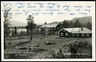 Buskerud fylke Hallingdal NESBYEN. Buvasbrenna Høifjellshotell Utg K.Ødegaard, postg. 1929